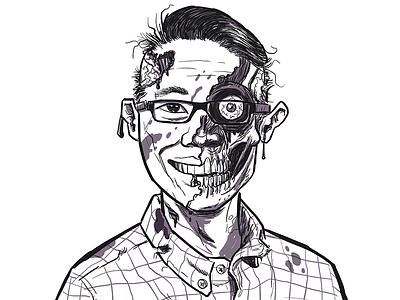 Zombie Portrait zombies glasses gore self-portrait zombie