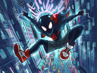 What's up danger? comic intothespiderverse comic art comics milesmorales spiderman