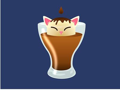 Affogato Large gato italian food dessert cat espresso coffee ice cream