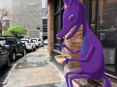 Commute Creature 5 creatures working tie purple lunchtime downtown boston commute creature noodles