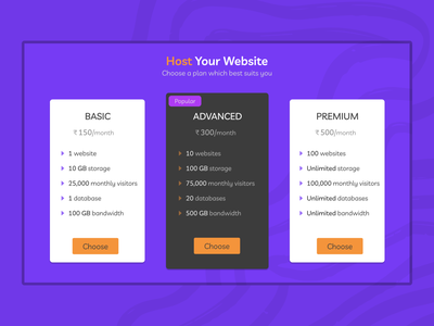Pricing  #030 website hosting pricing plan pricing plans ui design daily 100 challenge dailyuichallenge dailyui