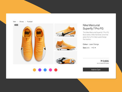 Customize Product  #033 customize product customize nike shoes nike shoes boots web design soccer football ui design daily 100 challenge dailyuichallenge dailyui