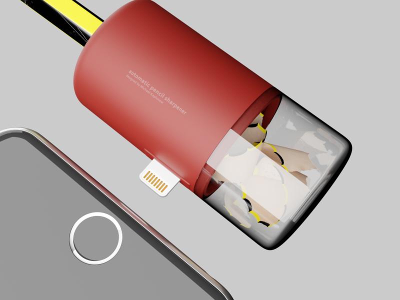 Automatic Pencil Sharpener pencil sharpener industrial design product design product 3d art 3d artist 3d design blender
