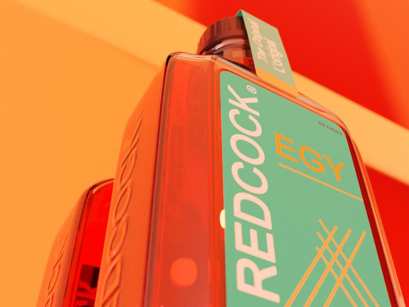 Redcock bottle industrial design product design product 3d art 3d artist 3d design blender redcock bottle