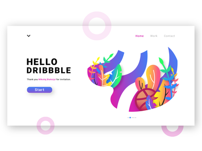 Hello Dribbble page illustration welcome dribbble first shot