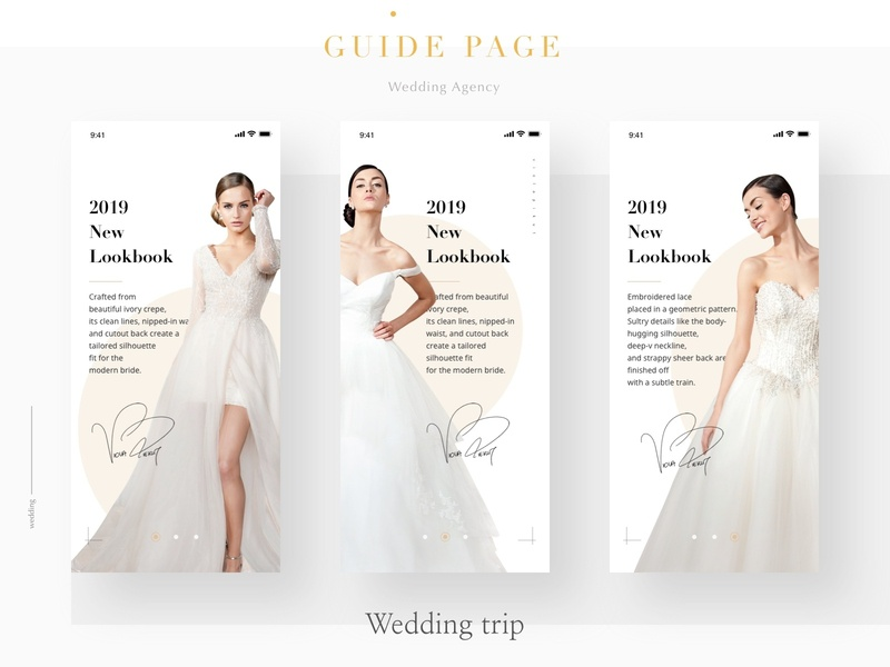 Wedding Dresses Guide Page By Eloise On Dribbble