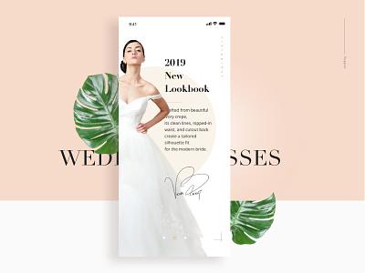 Wedding dresses APP design typography wedding dresses white ux ui app