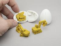 3D Printable Surprise Egg - #4 Tiny Excavator
