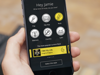 Music App - Intro Screen