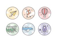 Milestones badges