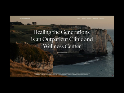 Home page - Healthcare & Wellness Center - Website design video healthcare motion web design ui website typography web nature animation layout colors minimal clean design selfcare wellness health