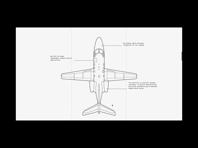 About us - Web design for aviation maintenance company plane home page about us ui fonts dark aircraft aviation airplane illustration video animation typography layout web design web design