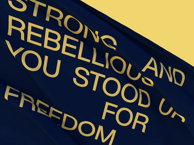 Happy birthday, dear Ukraine! digital art graphic art 3d motion graphics graphic design design studio render c4d cinema4d video motion identity typography design yellow blue animation flag ukraine independence
