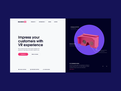 Intro - VR cardboard creation company - Website design ux ui home page shapes interface virtual reality vr web design web colors home intro