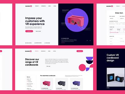 VR cardboard creation company - Website design typography colors animation virtual reality vr interface ux web design web ui design