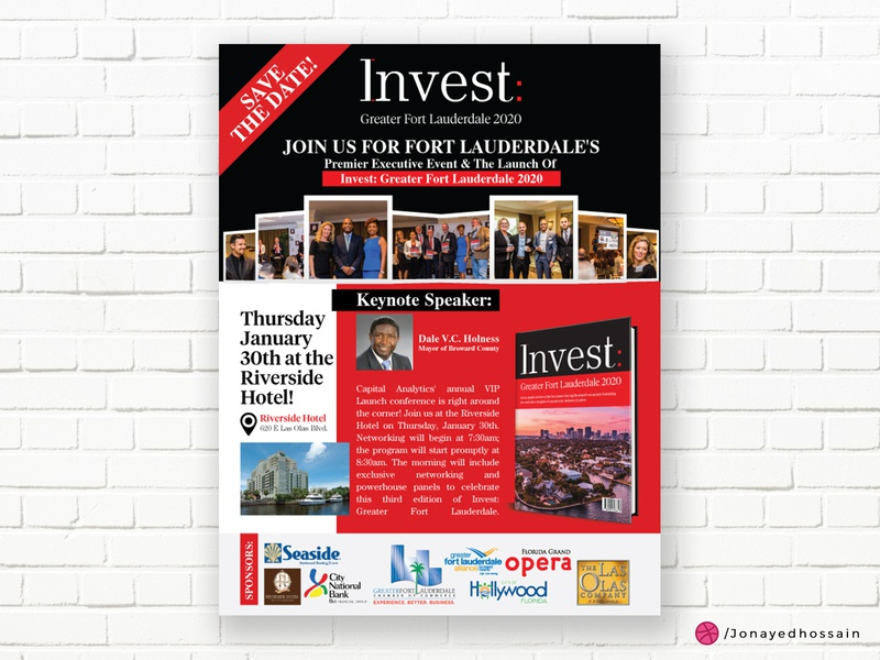 Corporate Flyer Design- Invest GFL 2020 magazine design magazine cover magazine ad banner ad poster design banner design corporate flyer flyer design