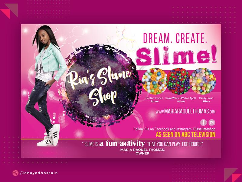 Slime Shop Banner flyer template magazine ad flyer social media banner flyer design banners posters poster art poster design poster banner banner ads banner design banner ad