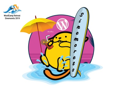 WordCamp Retreat Sinemorets wapuu 2 wapuu mascot wordpress wordcamp illustrator vector design illustration