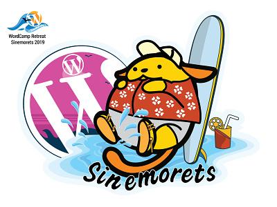 WordCamp Retreat Sinemorets wapuu 3 mascot wapuu wordpress wordcamp illustrator vector design illustration