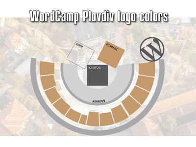 WordCamp Plovdiv 2020 logo colors logodesign wordpress wordcamp logo design logo branding illustrator vector design illustration