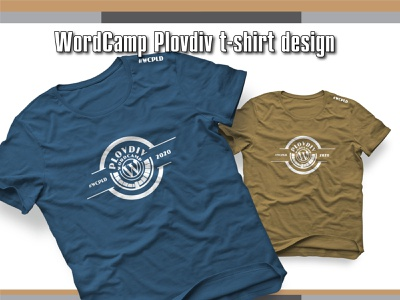 WordCamp Plovdiv T Shirt Design logodesign wordpress wordcamp branding illustrator vector design illustration