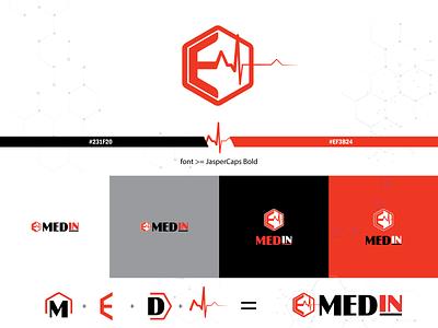 Medin logo - medical services inside logodesign logo design logo branding illustrator vector design illustration