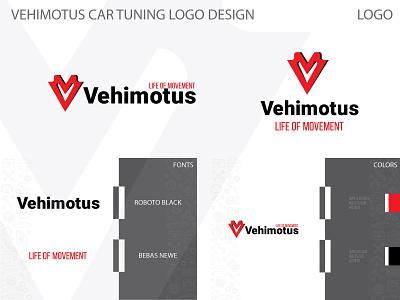 Vehimotus car tuning company logo design typography logo design logo branding illustrator vector design illustration