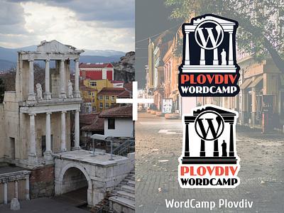 Logo for Wordcamp Plovdiv branding illustrator wordpress wordcamp vector design illustration logodesign logo design logo