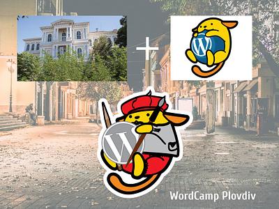 Wordcamp Plovdiv Artco Wapuu wapuu maskot illustrator branding wordpress wordcamp design vector illustration