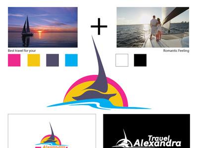 Alexandra Тravel Logo design logo design vector illustration identity branding identity design design logodesign logo
