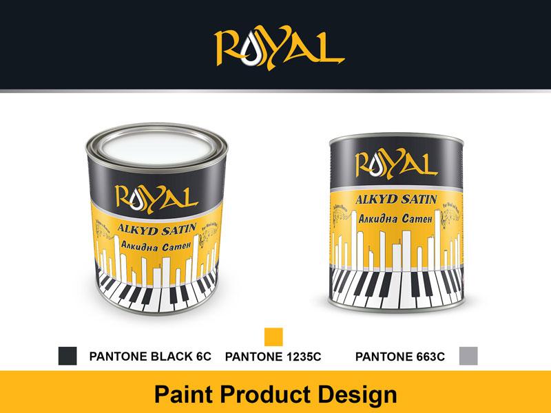 Paint Can design Royal Alkyd Satin paint illustrator vector can design can illustration branding design bucket