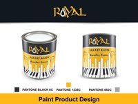 Paint Can design Royal Alkyd Satin paint