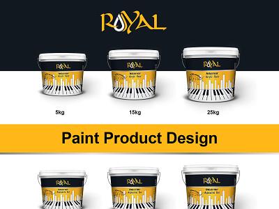 Royal Latex Bucket Design illustrator vector flexoprint bucket design branding bucket buckets branding design illustration