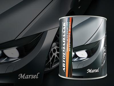 Autopaint can Marsel Autoenamel 2019 Vertical design can design packaging packaging design package design can branding vector design
