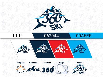 360 services Bansko logo 2 logo design logo illustrator branding vector illustration design