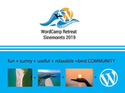 WCR Sinemorets retreat 2019 logodesign wordpress wordcamp logo design logo illustrator branding vector illustration design