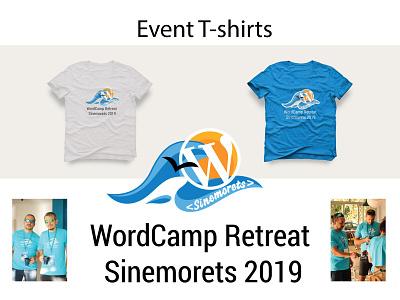 T-shirt of Event - WCR Sinemorets retreat 2019 logodesign wordpress wordcamp logo design logo illustrator branding vector illustration design