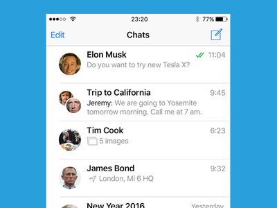 Telegram iOS app redesign