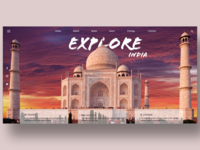 Explore India Landing Page