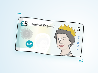 Five for a fiver five fiver queen five pounds