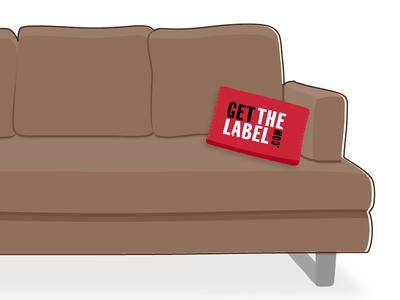 Sofa sofa cushion brown