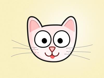 Little kitten pink tongue cat kitten whiskers
