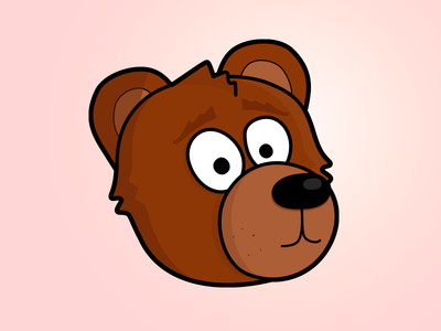 Bear brown bear worried pink