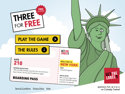 Three For Free ticket competition app liberty facebook