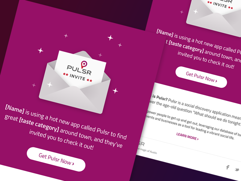 pulsr email invite by eric elliot dribbble dribbble