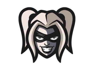 Harley Quinn artwork drawing logodesign face cute hero clown batman joker harley quinn photoshop branding illustrator vector logo graphic design illustration art design creative