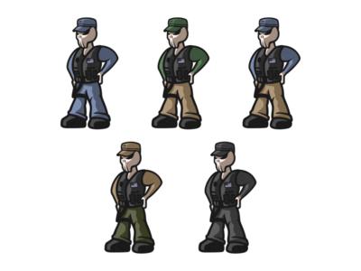 Sheriff/Police Illustrations hat characterdesign designer character cartoon person army skull police sheriff photoshop branding illustrator logo vector graphic design art illustration creative design