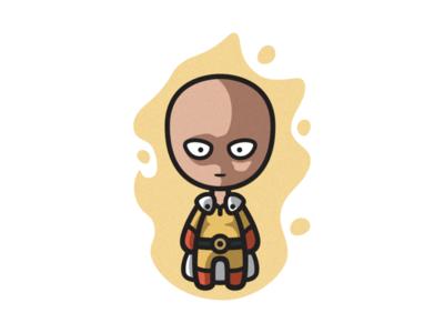 One Punch Man avatar logos illustration art designer artwork character design cartoon character anime onepunchman cute photoshop branding illustrator logo graphic design art illustration creative design