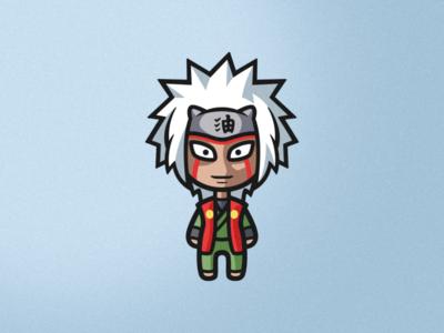 Jiraiya face illustration art brand identity sketch character cute cartoon character cartoon anime naruto photoshop branding illustrator vector logo graphic design art illustration creative design