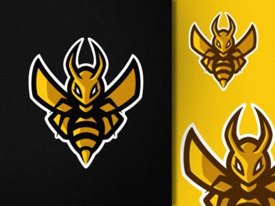 Hornet process sketch yellow minimal badge face wings hornet bee mascot logo ui photoshop branding illustrator logo graphic design art illustration creative design
